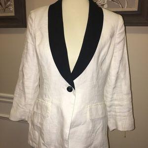 NWT MM COUTURE Miss Me white Linen Tux Jacket SZ M